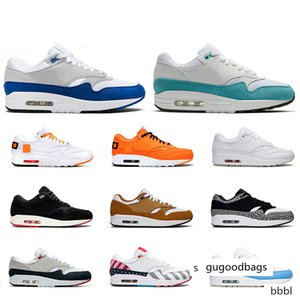 Wholesale men women running shoes 1 Anniversary royal Patch Atomic Teal Parra Bred Elephant 87 mens trainers fashion sports sneakers
