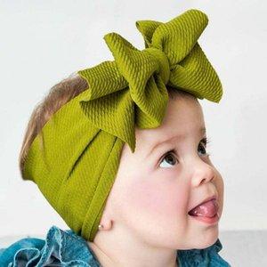 Koreli Bebek Big Bow Headwrap Bebek Kafa üstü Knot Bantlar Üzeri Bow Saç Turban Yenidoğan Kafa Bandı Kız Büyük Saç Yaylar Ölçekli