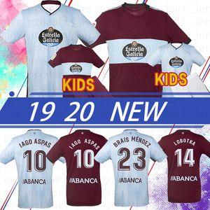 Tay RC Celta De Vigo LOBOTKA Iago Aspas Santl MINA 2020 Futbol Forma Çocuklar Futbol Gömlek SISTO BOUFAL Camiseta Futbol Üst Kalite Kiti