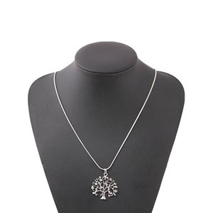 1шт Life Tree ожерелье с бриллиантами Простой и сладкий Дерево желаний ключицы цепи для женщин (серебро цвет)