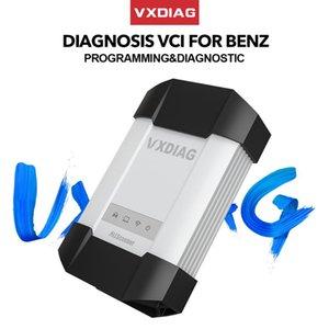 Herramienta de diagnóstico de VXDIAG VCX C6 Para profesionales coches SD conecta Mejor que la estrella del MB C4 C5 WiFi Obd2 escáner de código de programación