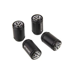 4 piezas de tapas de válvula de neumático de coche de metal Cubiertas de válvula de prueba de polvo de llanta de rueda Insignias de bandera de polvo de aire para BMW Benz Audi VW Honda Toyota