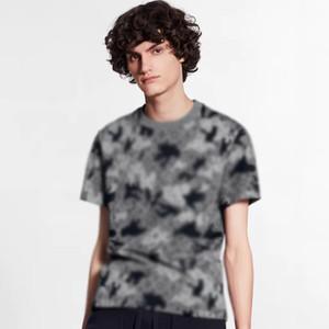 20ss Camo jacquard Monogram Tee High-End estate di modo degli uomini T-shirt a maniche corte High Street traspirante Tee HFYMTX884