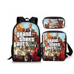 GTA Games 2020 5 Hot Print Schoolbag Personalized Pattern Book Bags Teenagers School Backpack Custom Child Mochila