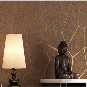 Geometrik Desen Kalınlaşmak 3D kabartmalı Duvar Kağıtları dokunmamış Kumaş Duvar Kağıdı Modern Yatak Odası Oturma Odası TV Arka Plan Duvar Kağıdı Dekorasyon