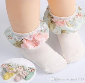 5 colors baby girl socks new arrivals 100% cotton flower ruffles design sock children's comfortable good quality Princess socks size 1-12T