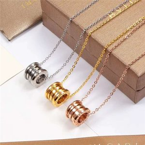 14 K altın seramik bahar kolye satmak, erkek ve kadın çiftler yıldız klavikula zincir kolye titanyum çelik toptan