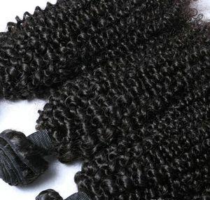 atacado 4 Pacotes Curly brasileira Virgin cabelo humano tecer Kinky Curly Hair Extension preço com desconto maneira tecer leitosa