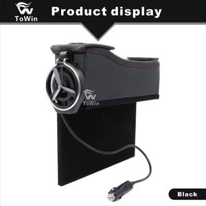 Çift USB Arayüzü ile yüksek Kaliteli Deri Saklama Kutusu Su Bardağı İçecekler İçecek Şişe Tutucu Araba Oto Araç SUV Stowing Tidying Kutusu