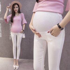 Hamilelik Kadınlar Örme Bottoms Hamile Giyim İlkbahar Sonbahar İçin 2020 Yeni Hamile Tayt Pamuk Göbek Sıska Dokuz Pantolon