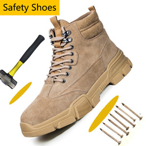lmcommercial aço toe sapatos calçados esportivos de trabalho para homens Non-Slip Construção industrial Segurança do Trabalho Botas 7 # 20 / 20D50