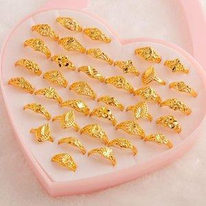 MYDANER Moda Encantos 36pcs / Lotes mistos Lotes Anéis de ouro do vintage das mulheres do estilo da mistura Anéis Atacado Jewlery para as Mulheres Wedding Party CX200609