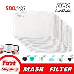 Máscara Pad junta Filtro respirável Carvão Ativado PM 2,5 Máscara de Filtro Papel Pad para Capa de proteção Anti Haze trabalho ao ar livre Super Free DHL