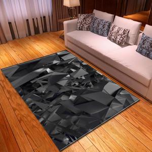 نمط هندسي حديث طبع السجاد ثلاثي الأبعاد لسجادة غرفة المعيشة منطقة طاولة غرفة النوم وسجادة أرضية مستطيلة مضادة للسجاد