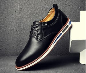 2020 nuevos zapatos para hombre primavera suave Oxford Business Casual zapatos de cuero del vestido Oficina Pisos de negocios inteligentes transpirable hombres ocasionales 1A40