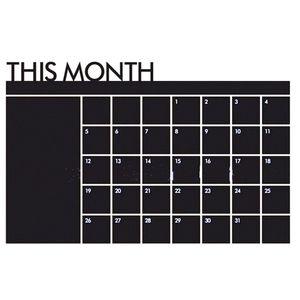Wall Sticker Home Office Decor Scheda di gesso Lavagna mensile Calendario