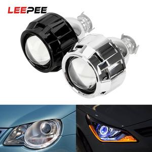 LEEPEE زينون HID العارض عدسة لH1 زينون LED لمبة H4 H7 2.5 بوصة فضية أسود قذيفة الدراجات النارية اكسسوارات السيارات العلوي