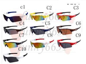Verão mais novo estilo de Bicicleta de Vidro Só óculos 10 cores óculos de sol FACE AGRADÁVEL Pegue os óculos de Sol Dazzle óculos de cor 30 pçs / lote Afree navio
