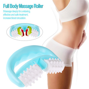 Plástico Dupla Rolo Massageador Celulite Corpo Perna Abdômen Pernas No Pescoço Nádegas Rápido Anti Fadiga Relaxante Massagem Plástica 1 pc R0072