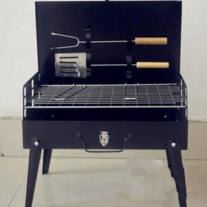 2017 begrenzte Förderung Schwarz 3-5 Personen nicht beschichtet Guss 3c Outdoor-Grill Koffer Grill Portable Zubehör Campingzubehör