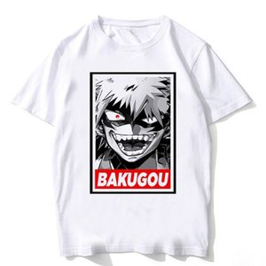 Newest T Shirts Man Short Sleeve Clothing Boku No Hero Academia cosplay Funny Cartoon T-shirt For Man woman