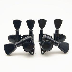 18: 1 Teste Grover macchina sintonizzatori chitarra spine di sintonia 3R3L / SetBlack 3L3R Grover Chitarra Mecchaniche sintonizzatori spine di sintonia / Set made in Corea