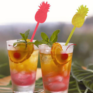 Pineapple Cocktail Swizzle Sticks Stirrer Coffee Wine Drink Muddler Puddler Party Kitchen Night-club Accessories Wholesale ZC1441
