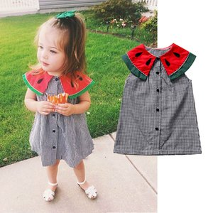 Baby Girl Floral Dress Kid Party Wedding Pageant Formal Plaid Dresses Sundress Baby Girl Clothes