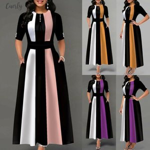 Vintage Dress Hot 2020 Women Stretchy Striped Package Bodycon Bandage Dress Girls Club Party Dress Long Maxi Warm Winter