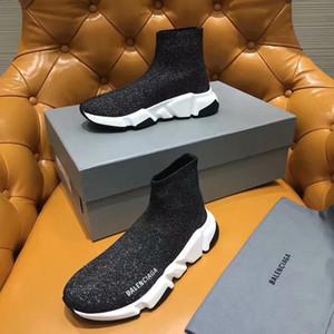 Luxe Sock Chaussures Casual Chaussures Speed Entraîneur Chaussures de sport de haute qualité Vitesse Entraîneur Sock course coureurs noirs hommes Chaussures femmes et chaussures de luxe