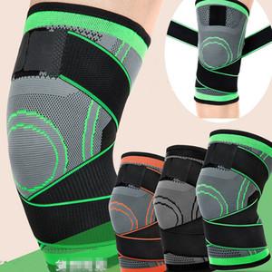 Correr Deporte encaja Jog 3D Weaving rodilla de cojín de la ayuda Protege Comprimir