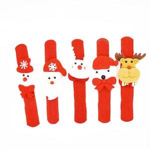 Giocattolo del regalo dei bambini di Natale di natale Patting Circle Bracelet Watch Babbo Natale del pupazzo di neve dei cervi partito di nuovo anno da polso Decoration JK1910