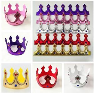 Gold Crown König Königin Prinzessin Prince Abendkleid Verstellbare Kinder Erwachsene Partei Props Cosplay Hüte Weihnachten Halloween Geburtstag Supplies