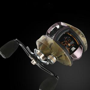 Камуфляж 6,5: 1 12 + 1BB Bass Reel Bait рыболовная катушка 8KG Макс Drag левой и правой руки Колесо Усиленный нейлон тела рыболовная катушка