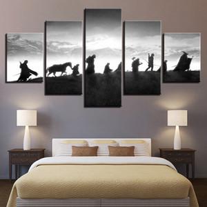 HD Home Decor Impresso Modular Pinturas 5 Painel Senhor Dos Anéis Personagem Tableau Pictures Wall Art Canvas Moderna Cartazes