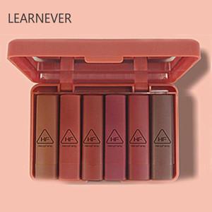 6pcs set Korea Nude Matte Lipstick Waterproof Long Velvet Batom Lip Makeup Lipstick Set Kit Pigment Lasting Cosmetic V1O2