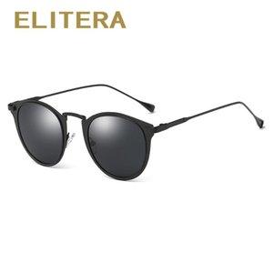 ELITERA modo delle donne degli occhiali da sole Cat Eye rotonda marchio di occhiali polarizzati