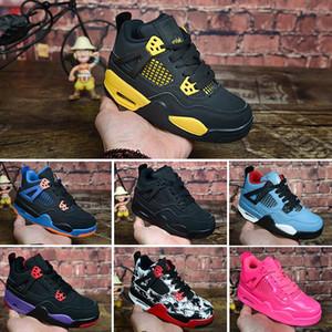 Nike Air Jordan 4 Дети 4 6 Баскетбольные кроссовки Оптовые Новые 1 пробка J4 J6 6s Кроссовки детские Спортивные Бег девочка мальчик кроссовки J4 обувь 28-35