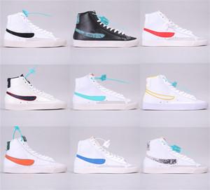 Neue W Blazered Mid 77 VNTG WE Wildleder-beiläufige Turnschuh-Blazer Mid-Skateboard-Schuhe der Frauen, Weiß, Gelb Designer Sport-Schuh-Turnschuhe Größe 36-45