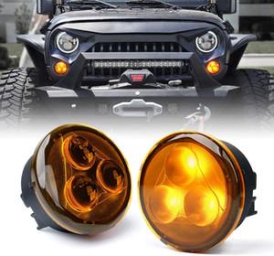 Amber LED Turn Signal Light Assembly with Amber Lens for 2007-2018 Jeep Wrangler JK