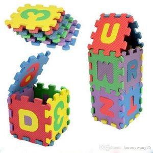 дети мини EVA пены буквы алфавита Цифры пола Мягкая Детские Мат 3d головоломки Детские развивающие игрушки 36 шт