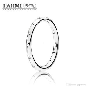 FAHMI 100% 925 Sterling Silver 1:1 Original Authentic Charm 190945CZ Temperament Fashion Glamour Retro Ring Wedding Women Jewelry