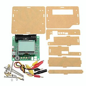 Freeshipping Nuovo 3.7 V DIY Transistor Grafico Tester LCD Multimetro Digitale Diodo Induttore Condensatore ESR Meter + Shell Multifunzione Kit FAI DA TE