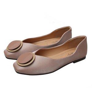 Mode Frauen Ballerinas Schuhe Dame Beleg auf Loafers beiläufige Mokassin-Party-Platz Toe Schuhe Zapatos Mujer Plus Size 42 43