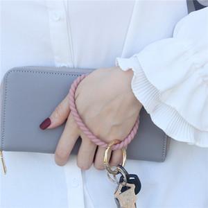 Силиконовый браслет брелок запястье брелок круглый круг твист браслет брелок брелок держатель для женщин наручные браслеты 300шт T1I2072