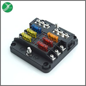 Fantastic6-Way Fuse Box Vehicle and Vessel Modification Fuse Box 6-Way Positive and Negative Electrode Fuse Box Car Insert Holder New