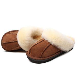 Женщины зима теплая овчина шерсть Меховые тапочки женщин тапочки овец Lovers Главная Тапочки Крытый плюша Размер дома Обувь Женщина B24 Y200106
