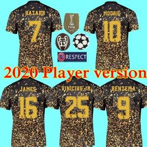 2020 Limited Edition Версия футбол Джерси 19 20 Реал Мадрида Специального издание четвёртой футбол рубашка 7 опасность 8 Кроос Формы футбольной