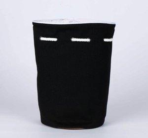Classic logo Drawstring Gym Bucket Bag Thick Travel Draw String Bag Women Waterproof Wash Bag Cosmetic Makeup Storage Case