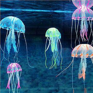 Effetto Artificiale Fish Tank Ornament Decor Carino Glowing Decorazione Acquario